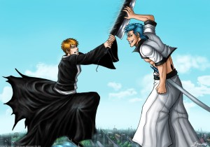 Grimmjow and Ichigo from Bleach
